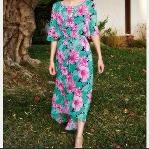 NWT Leifnotes floral chiffon maxi dress sz 8